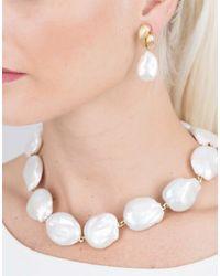 Yvel - Multicolor White Baroque Freshwater Pearl Drop Earrings - Lyst