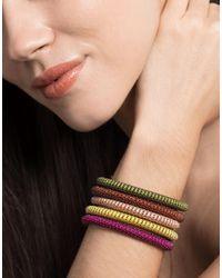 Carolina Bucci Multicolor Magenta Twister Band Bracelet