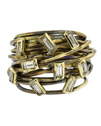 Boaz Kashi - Multicolor Baguette Diamond Wire Wrap Ring - Lyst