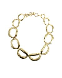 Vaubel Metallic Connected Thick Circle Necklace