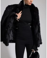 T By Alexander Wang Black Suiting Legging