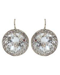 Andrea Fohrman Metallic 15mm Rock Crystal And Sapphire Earrings