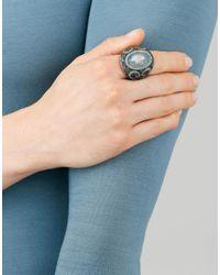 Sevan Biçakci - Metallic Carved Swan Ring In Moonstone - Lyst