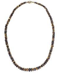 Sylva & Cie Metallic Ethiopian Opal Bead Necklace