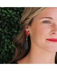 Irene Neuwirth Multicolor Faceted Labradorite Drop Earrings