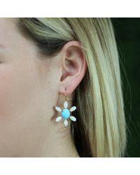 Andrea Fohrman Blue Sleeping Beauty Turquoise Earrings