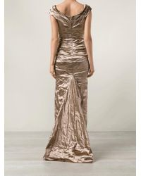 Nicole Miller Multicolor Wrap Top Gown