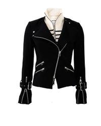 Veronica Beard Black Jordan Moto Jacket
