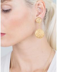 Yossi Harari - Metallic Drop Lace Diamond Earrings - Lyst