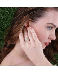 Sydney Evan - Metallic Double Heart Diamond Ring - Lyst