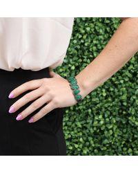 Sutra Green Sliced Emerald And Diamond Bracelet