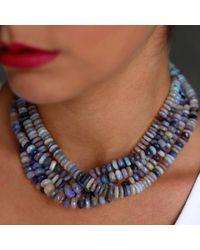 Irene Neuwirth - Metallic Opal Bead Necklace - Lyst