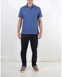 Brunello Cucinelli Blue Polo Shirt for men