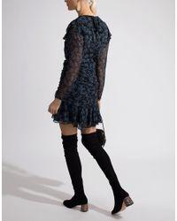 Veronica Beard Black Magg Long Sleeve Dress