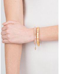 Shamballa Jewels - Multicolor Peach Moonstone Beaded Bracelet - Lyst
