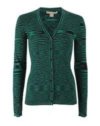 Michael Kors Green Featherweight Space Dye Cardigan