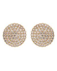 Dana Rebecca Multicolor Diamond Pave Stud Earrings