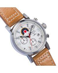 AVI-8 - Brown AV-4041-01 Hawker Hurricane Leather-Strap Watch for Men - Lyst