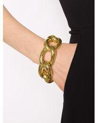 Vaubel Metallic Oval Circle Ridge Bracelet