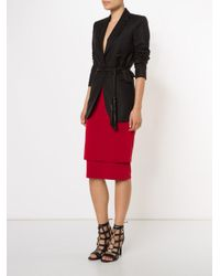Donna Karan - Red Double Layer Tube Skirt - Lyst