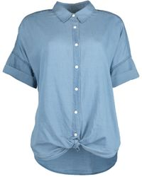 Rag & Bone Blue Tie Shirt