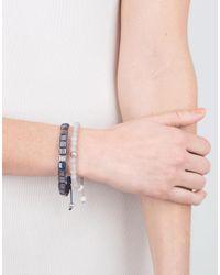 Shamballa Jewels - Multicolor Grey Sapphire Lock Bracelet - Lyst