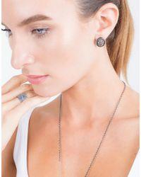 Todd Reed - Metallic Diamond Oval Stud Earrings - Lyst