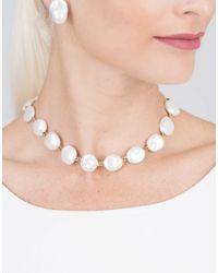 Yvel Metallic Keshi Pearl Necklace