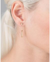 Monique Péan - White Fossilized Woolly Mammoth Bar Earrings - Lyst