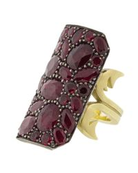 GEMFIELDS X MUSE Multicolor Ten Table Ruby Ring