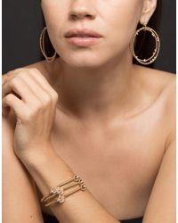 Nancy Newberg Metallic Double Floating Diamond Hoop Earrings