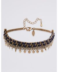 Marks & Spencer | Metallic Sparkle Droplets Choker Necklace | Lyst