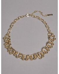 Marks & Spencer | Metallic Curly Chain Necklace | Lyst