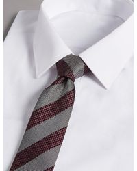 Marks & Spencer - Multicolor Pure Silk Striped Tie for Men - Lyst