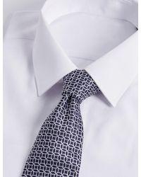 Marks & Spencer | Blue Pure Silk Geo Print Tie for Men | Lyst