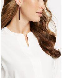 Marks & Spencer - Multicolor Sleek Velvet Tassel Drop Earrings - Lyst
