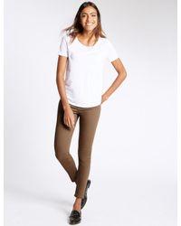 Marks & Spencer - Brown Mid Rise Super Skinny Leg Jeans - Lyst