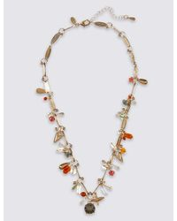 Marks & Spencer - Metallic Twigs & Charm Necklace - Lyst