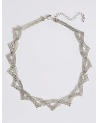 Marks & Spencer - Metallic Silver Plated Ball Chain Collar Necklace - Lyst