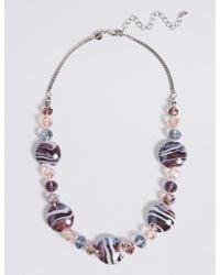 Marks & Spencer - Multicolor Garden Glass Necklace - Lyst