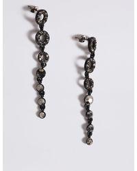 Marks & Spencer - Black Sparkle Drop Earrings - Lyst