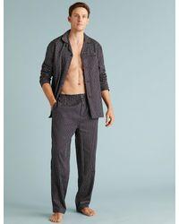Marks & Spencer Multicolor Pure Cotton Printed Pyjama Set for men