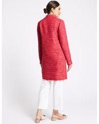 Marks & Spencer Pink Textured Blazer
