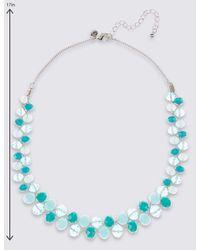 Marks & Spencer - Blue Twist Glass Necklace - Lyst
