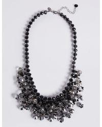 Marks & Spencer | Black Beaded Necklace | Lyst
