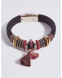 Marks & Spencer - Multicolor Wrap Tassel Bracelet - Lyst
