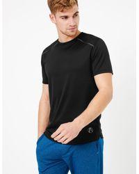 Marks & Spencer Black Active Reflective Trim T-shirt for men