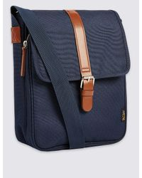 Marks & Spencer - Blue Scuff Resistant Cordura® Crossbody Bag for Men - Lyst