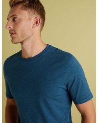 Marks & Spencer Blue Slim Fit Pure Cotton Crew Neck T-shirt for men