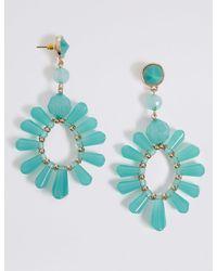 Marks & Spencer - Blue Spike Earrings - Lyst